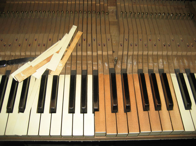 Piano keys recovered